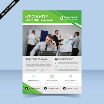 We can help grow your business flyer template design