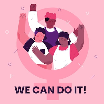 We can do it 8 march women's day