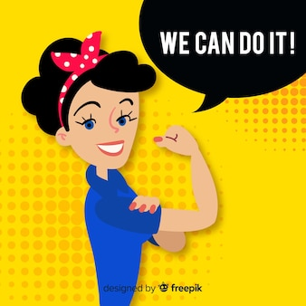 We can do it! background