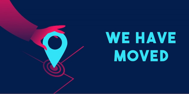 We have moved banner template