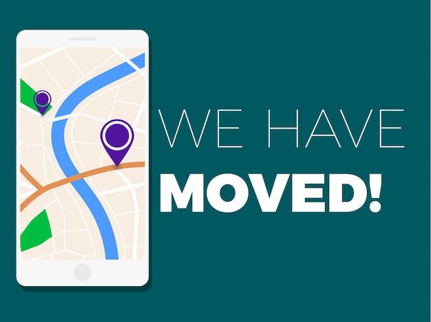 We have moved illustration