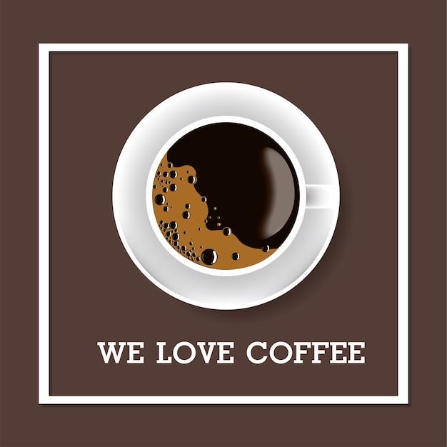 私たちはコーヒーが好きです。コーヒーカップ