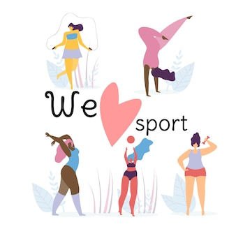 We love sport banner