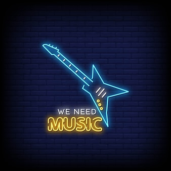 Нам нужна музыка неоновые вывески стиль текста