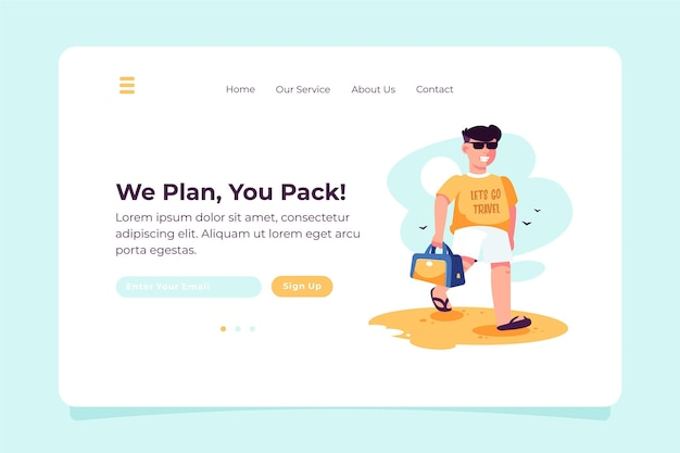 We plan, you pack local tourism landing page