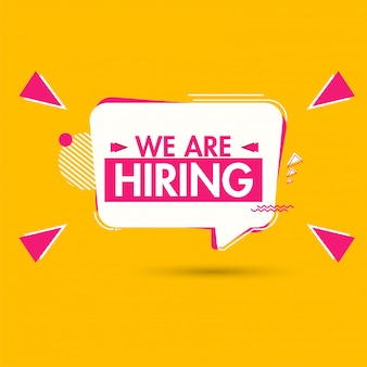 We're hiring, advertising poster or template