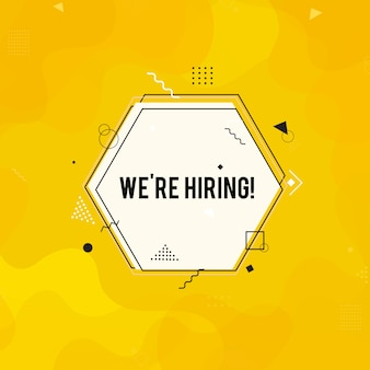 We're hiring background