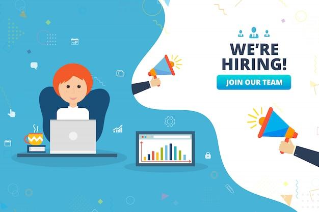 We're hiring banner