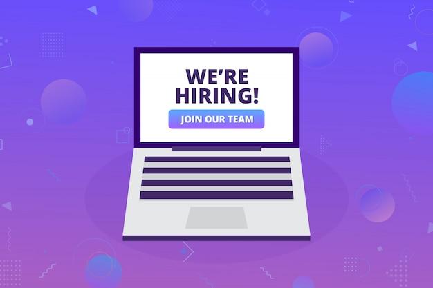 We're hiring concept