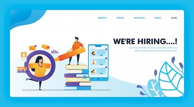 We're hiring fresh graduate concept design for landing page.