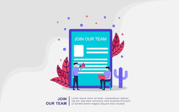 We're hiring join our team online recruitment concept