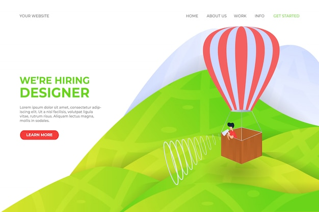 We're hiring landing page template