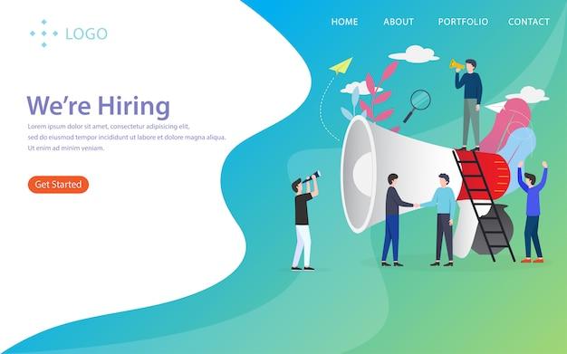 We're hiring, landing page