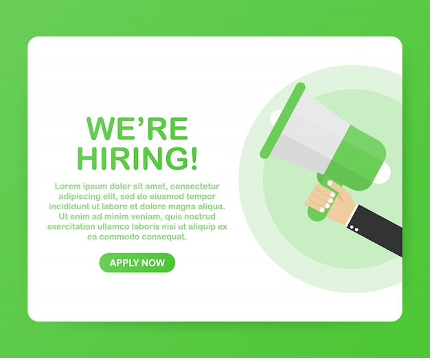 We're hiring web template