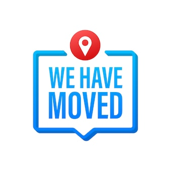 We re moving icon badge. ready for use in web or print design. vector stock illustration.