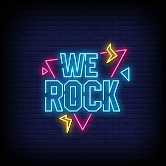 We rockネオンサインスタイルテキスト