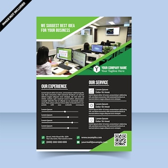 We suggest best idea for business flyer template design