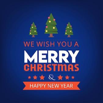 우리는 당신에게 메리 크리스마스와 새해 복 많이 받으세요 배경을 기원합니다