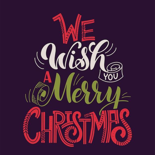 Счастливого рождества. элементы для приглашений, плакатов, открыток. дизайн футболки. приветствия сезоны.