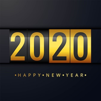 We wish you a happy new year 2020 beautiful card