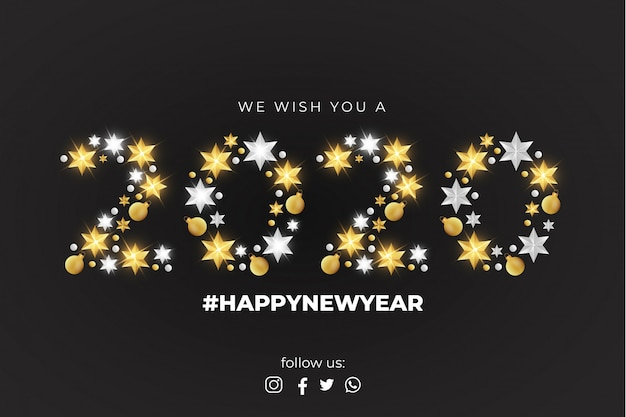 We wish you a happy new year card template