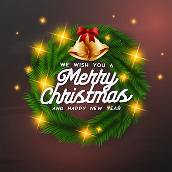 We wish you a merry christmas background