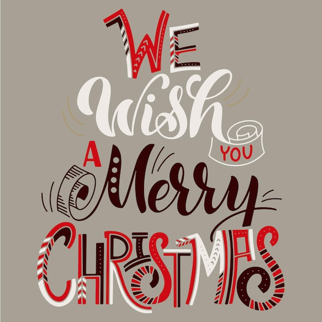 We wish you a merry christmas. elements for invitations, posters, greeting cards. t-shirt design. seasons greetings.