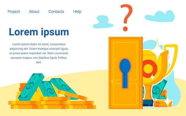 Wealth, prosperity secrets landing page template