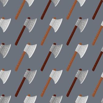 Оружие бесшовные модели со средневековым топором.
