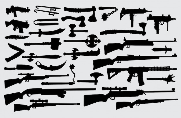 Weapon silhouette.