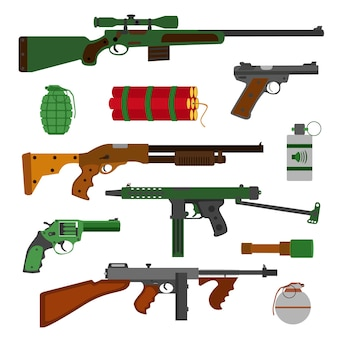 武器、銃のコレクション