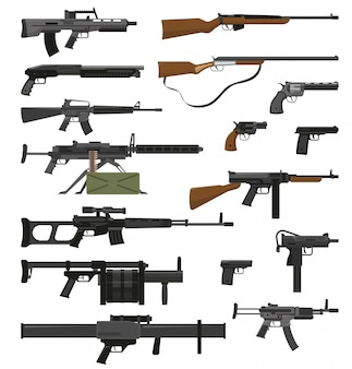 Weapons guns set