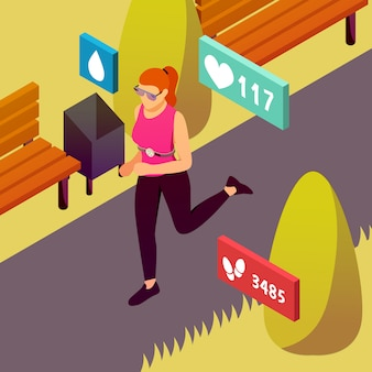 Wearable sport devices isometric
