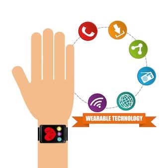 Wearable technology hand watch health app