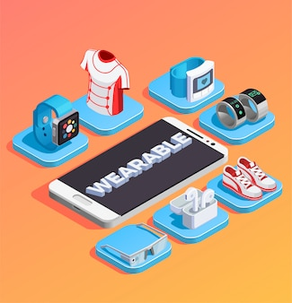 Wearable technology isometric composition