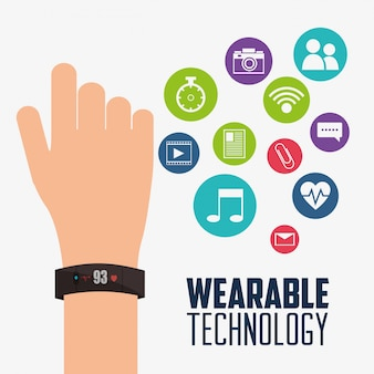 Wearable technology smartwatch device electronic