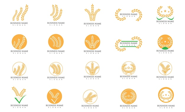 Weat and rice food logo vector