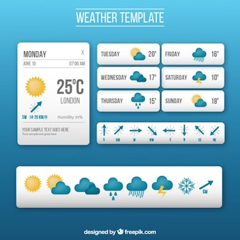 Weather app template with icons