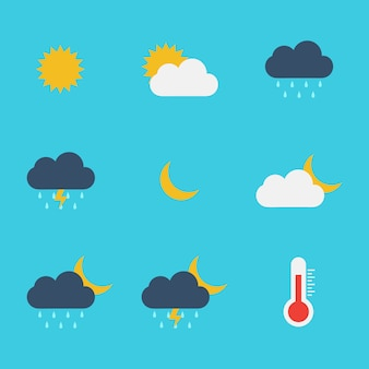Weather flat icon vector design template