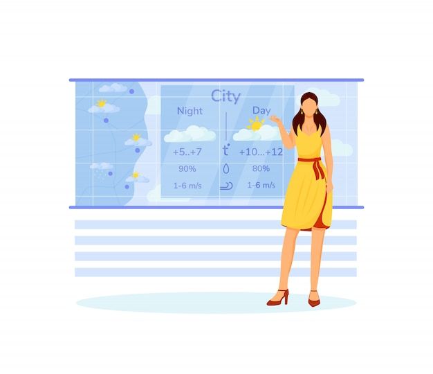 Weather forecast flat character