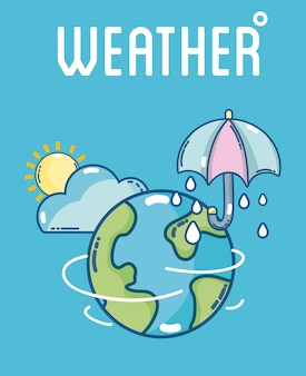 Weather and forecast template with elements