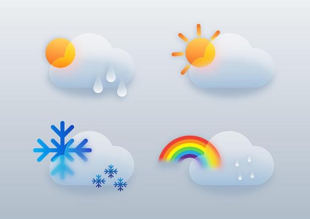 天気インフォグラフィックデザインテンプレート