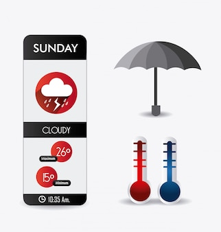 Weather mobile app design.