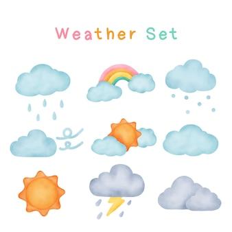 天気は水彩画のスタイルを設定します。