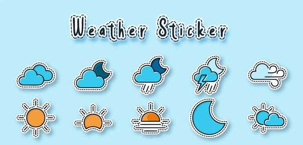 天気ステッカー