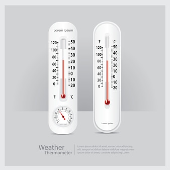 Weather thermometer isolated vector illustration