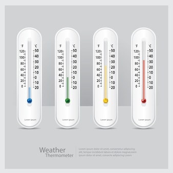 Weather thermometer isolated