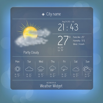 Weather widget template.
