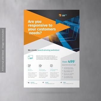 Флаер по продвижению бизнеса веб-агентства
