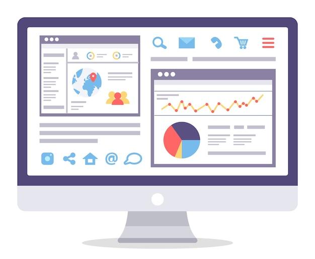 Web analytics information and development website statistic.